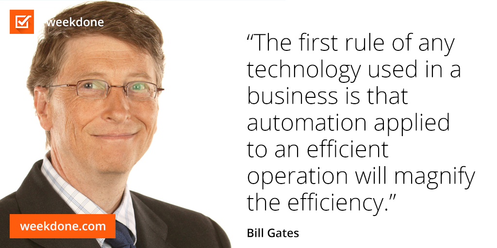Bill Gates On Technology And Efficiency Efficiency Motivation Gates Interesting Quotes Motivational Quotes Self Development