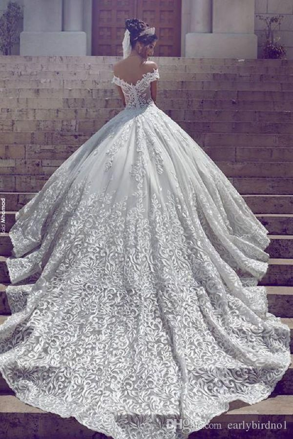 Photo of New Vintage Lace Wedding Dresses Sexy Off The Shoulder Short Sleeves Applique Sweep Train A Line Custom Made Wedding Bridal Gowns Wedding Dresses Online Wedding Dresses From Earlybirdno1, $ 324.25 | Dhgate
