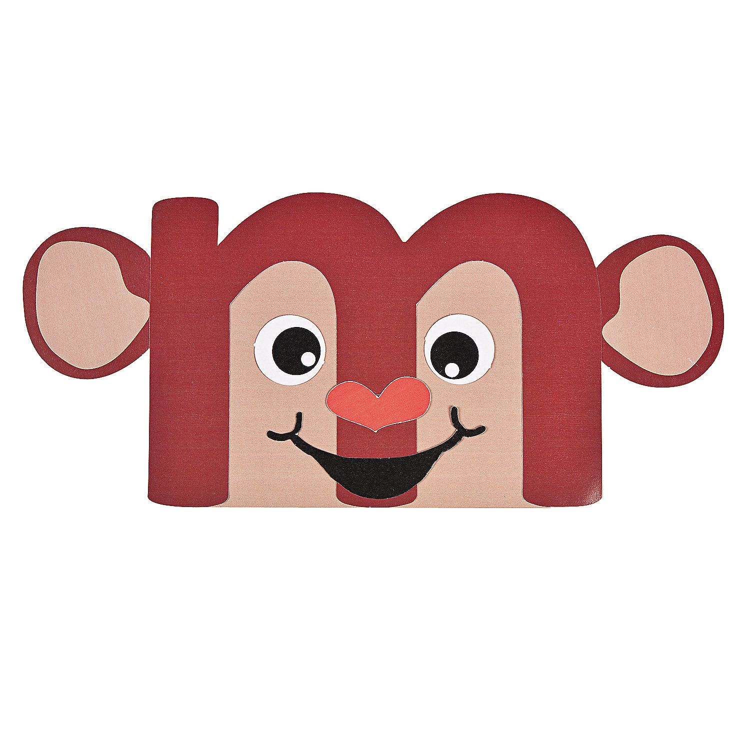 M Is For Monkey Lowercase Letter M Craft Kit