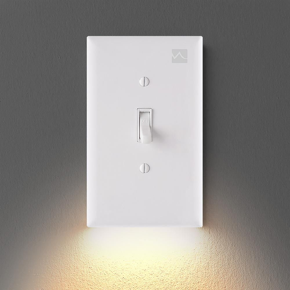Outlet Wall Plate With Led Night Lights No Batteries Or Wires Ul Fcc Waywoop In 2020 Led Night Light Night Light Plates On Wall