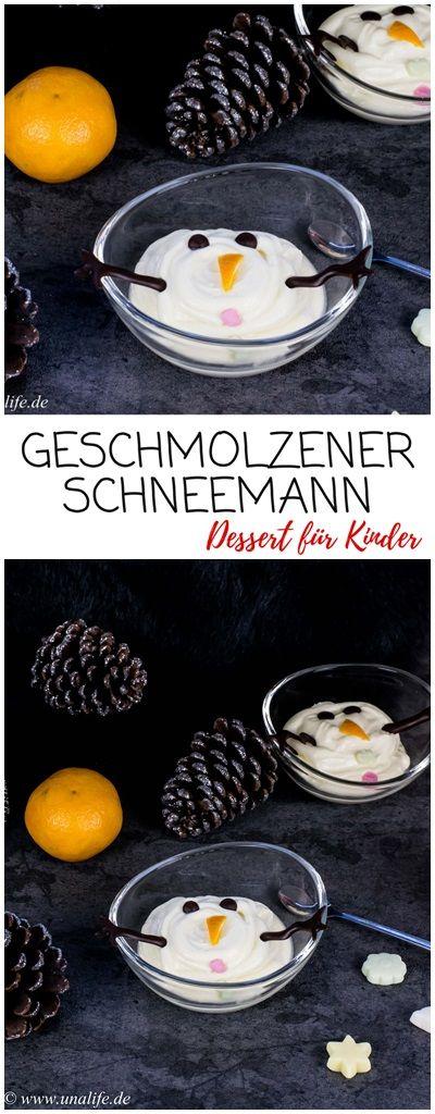 Geschmolzener Schneemann - Rezept für kinder #repasdefete