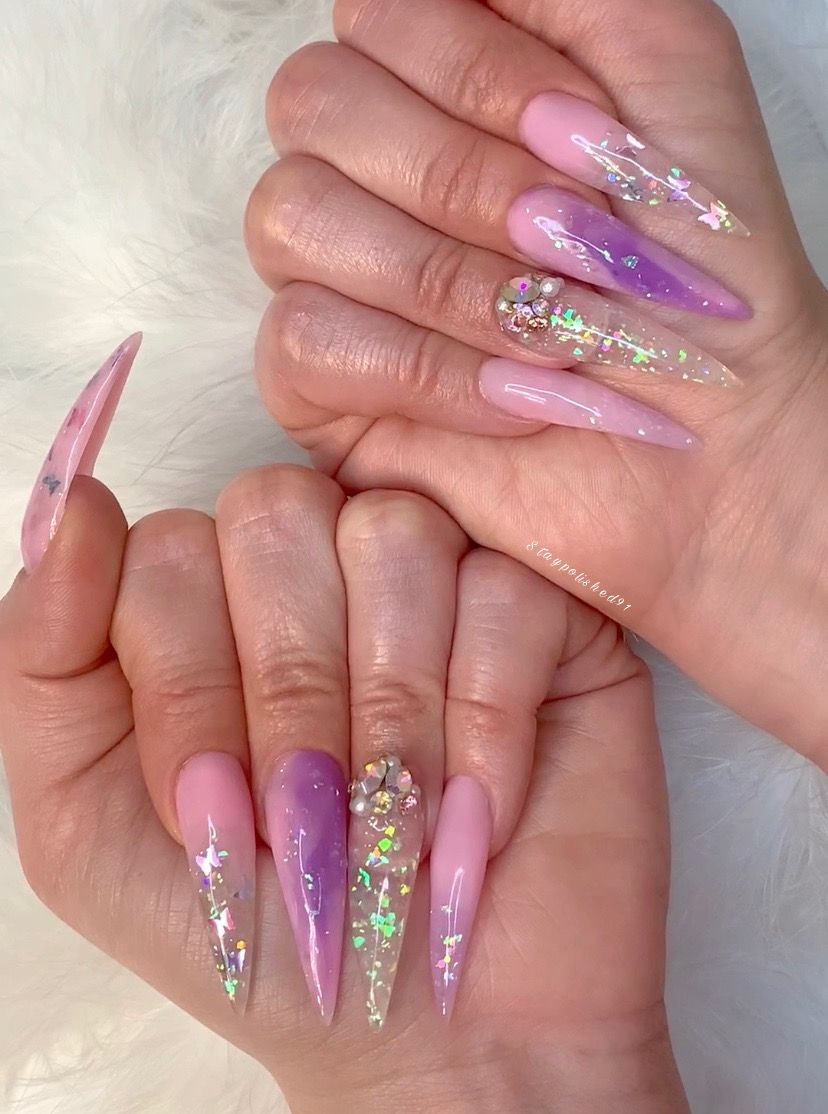 Staypolished91 Instagram In 2020 Bling Acrylic Nails Ombre Nails Glitter Best Acrylic Nails