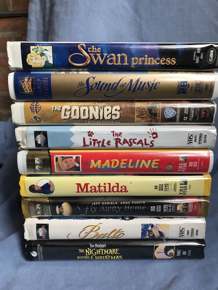 Pin By Emmymarce On Ebay Sound Of Music Nightmare Before Christmas Vhs Tapes