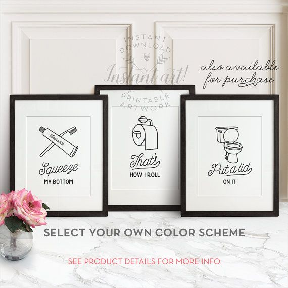 Funny bathroom print, PRINTABLE art, That's how i roll, Bathroom sign, Bathroom art, Bathroom decor, Bathroom wall art, Funny wall art, Dorm #bathroomart
