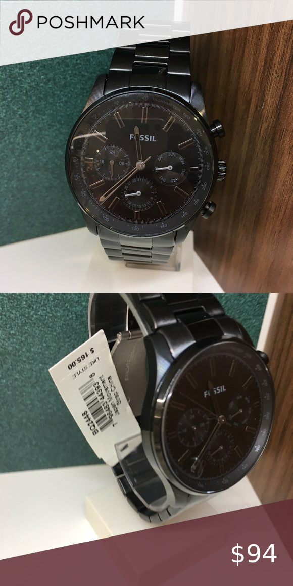 Fossil Bq2448 Sullivan Multifunction Black Watch Fossil Bq2448 Sullivan Multifunction Black Stainless Steel Watch In 2020 Black Watch Fossil Accessories Fossil Watches