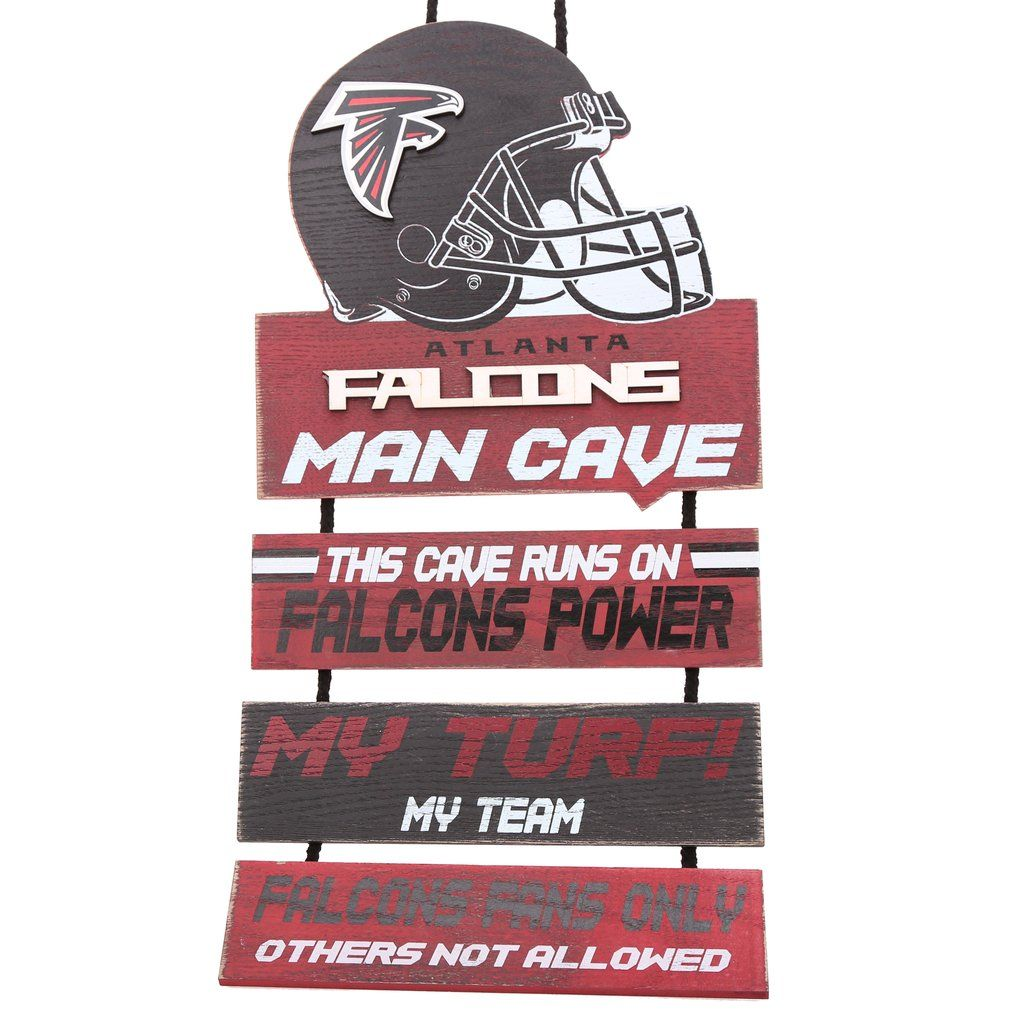Atlanta Falcons Helmet Man Cave Dangle Sign With Images Man Cave Signs Atlanta Falcons Helmet
