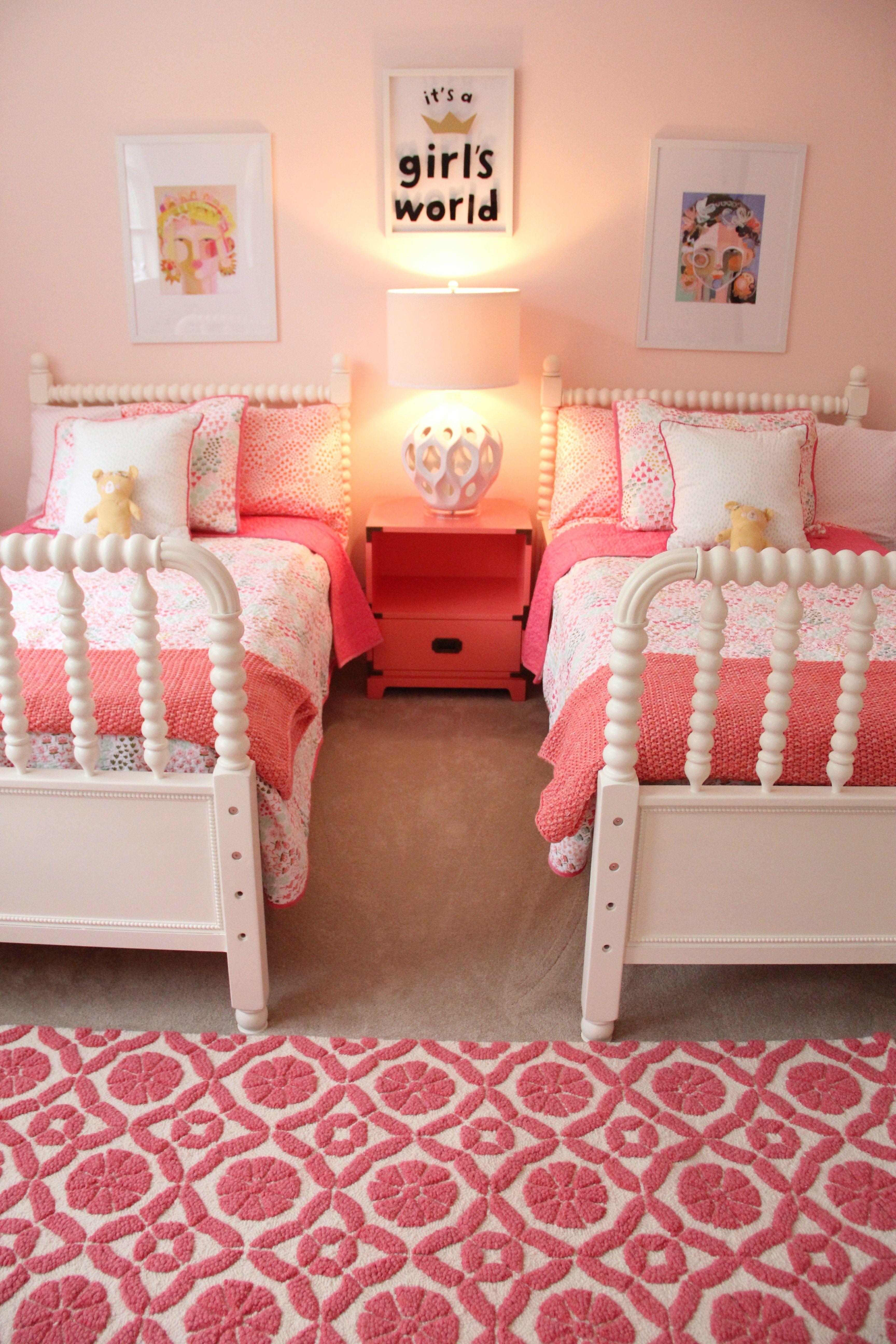 Monday Makeover Shared Little Girls Room Shared Girls Bedroom Toddler Girl Room Diy Girls Bedroom