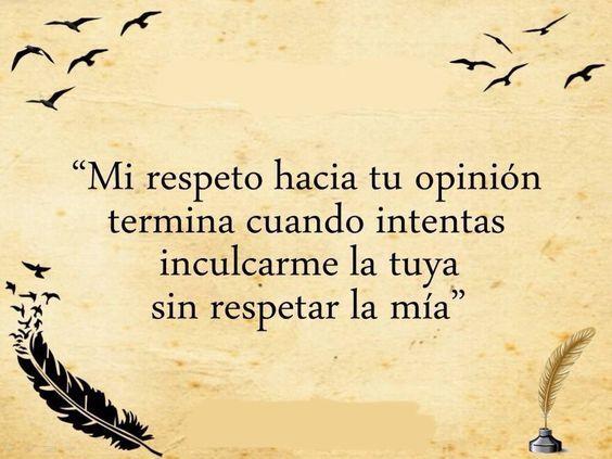 Imágenes Con Frases Sobre El Respeto Para Reflexionar Mejores Imágenes Life Quotes Inspirational Quotes Spanish Quotes Funny