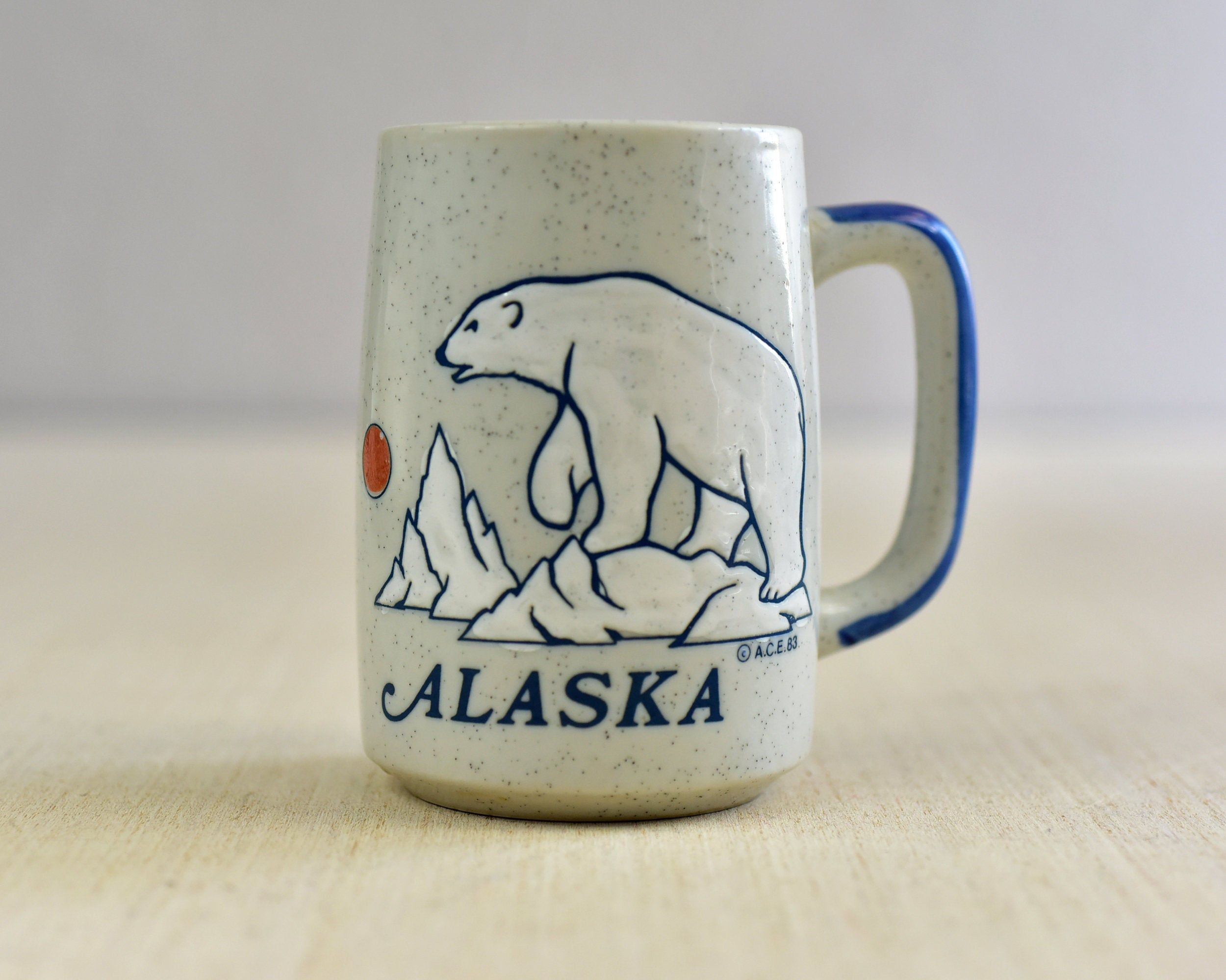 Vintage Alaska Polar Bear Coffee Mug Souvenir Mug Stoneware A C E 83 Ceramic Mug Vintage Ceramic Mugs Ceramic Mug [ 1999 x 2500 Pixel ]