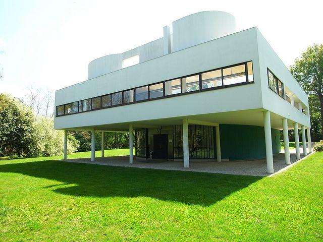 Villa savoye le corbusier 1931 poissy facades villas for 5 points corbusier