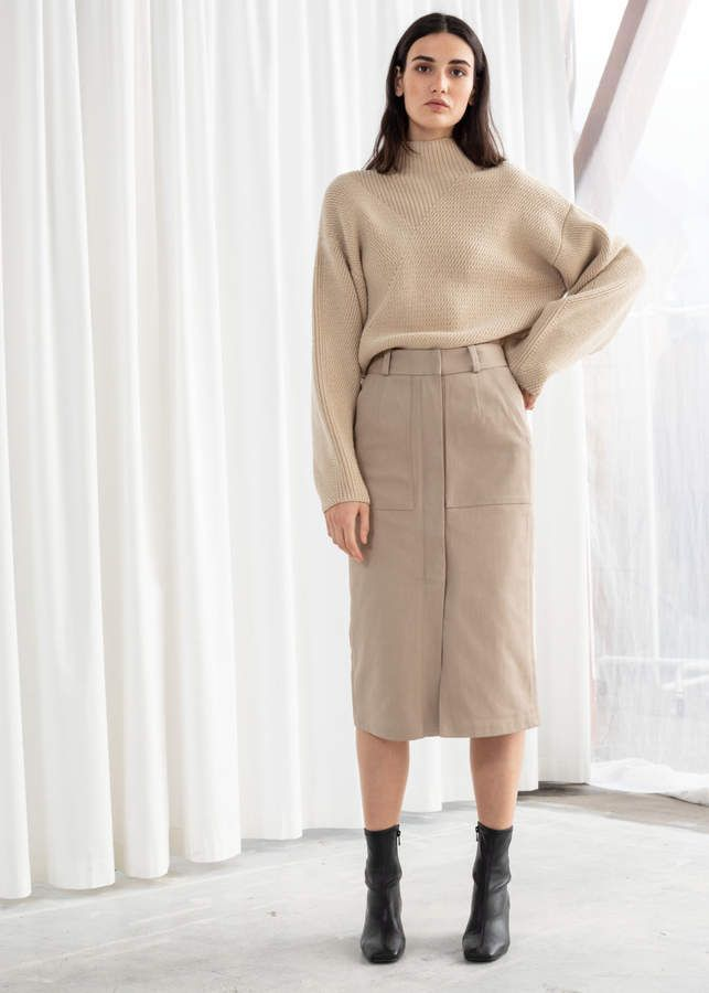 f6d3af6ecb6b60 And other stories Stretch Cotton Pencil Skirt in 2019 | Fashion <3 ...