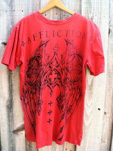 Mens Affliction V Neck T Shirt Size Medium | eBay