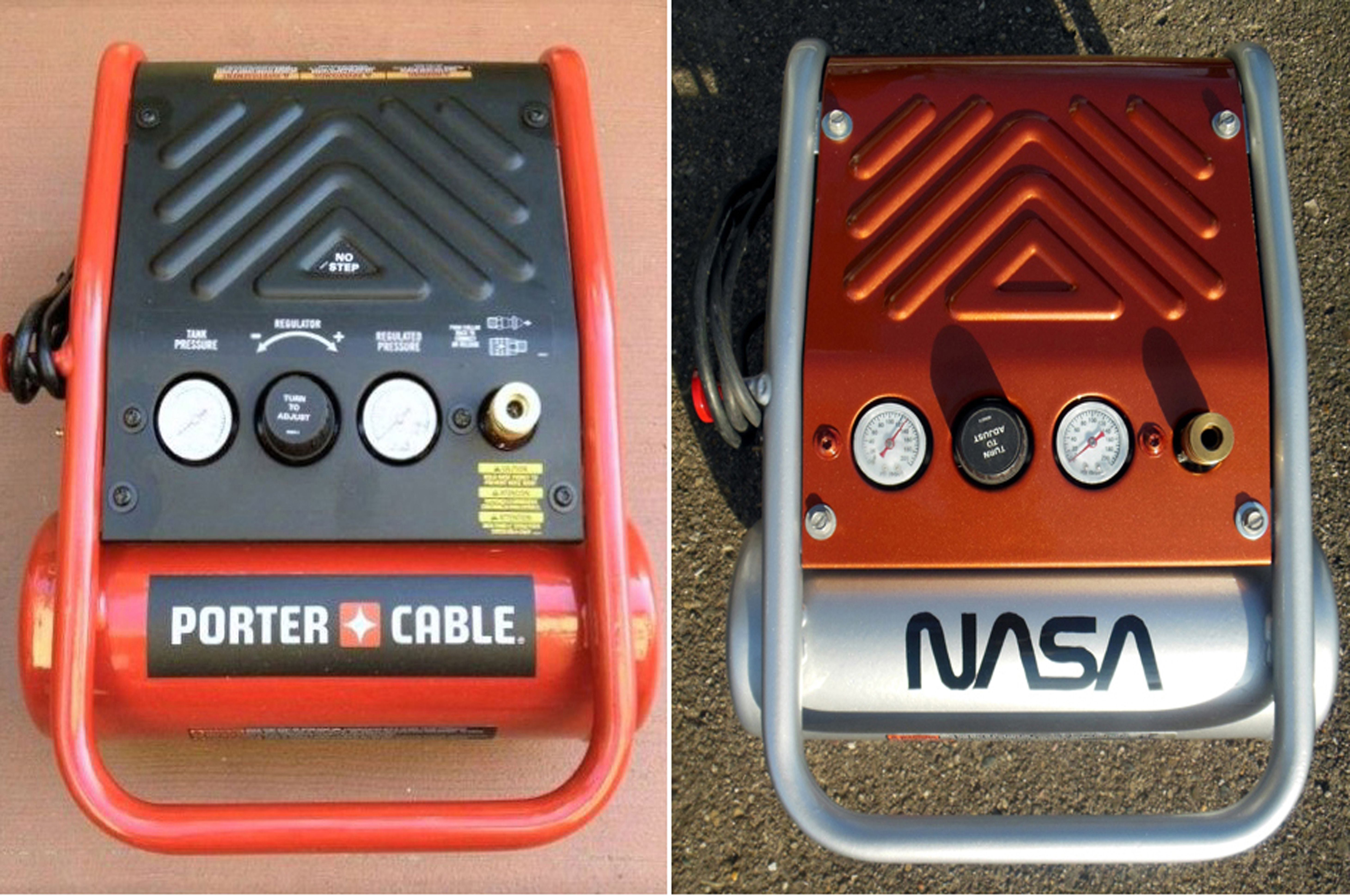 Air Compressor, before and after. This is my Porter Cable