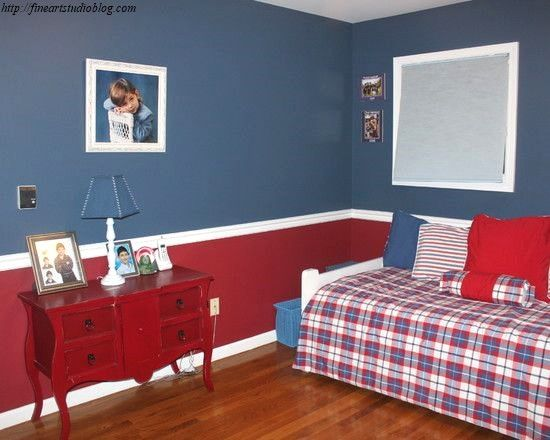 35 Incredible Boys Room Paint Ideas Plan in 2020   Red ...