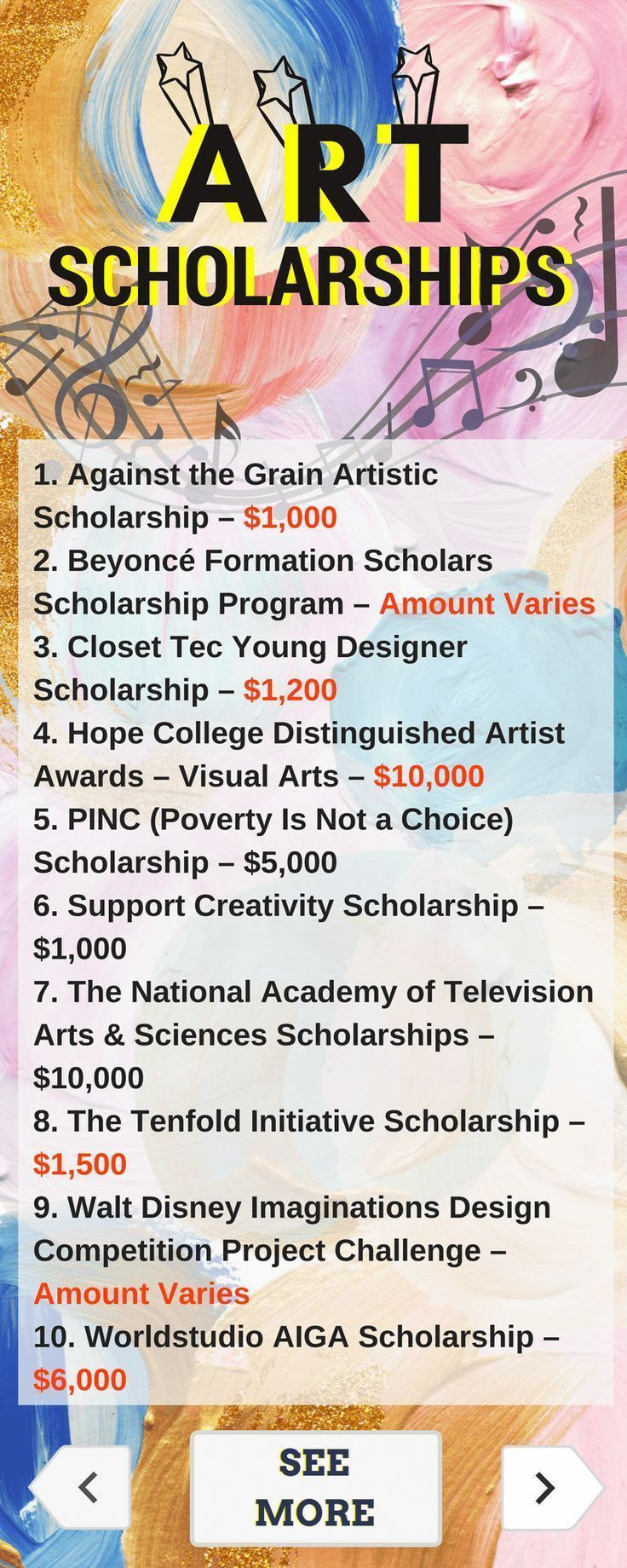 Art Scholarships | Scholarships for college, Nursing ...