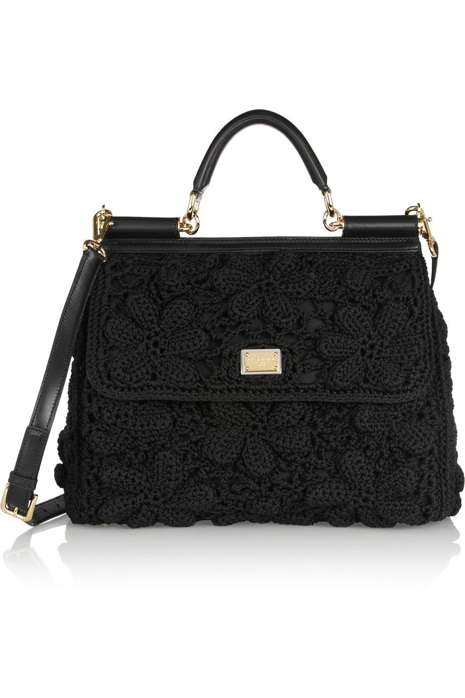955ad48555c Dolce & Gabbana | Miss Sicily crochet and leather tote | LadyLike ...