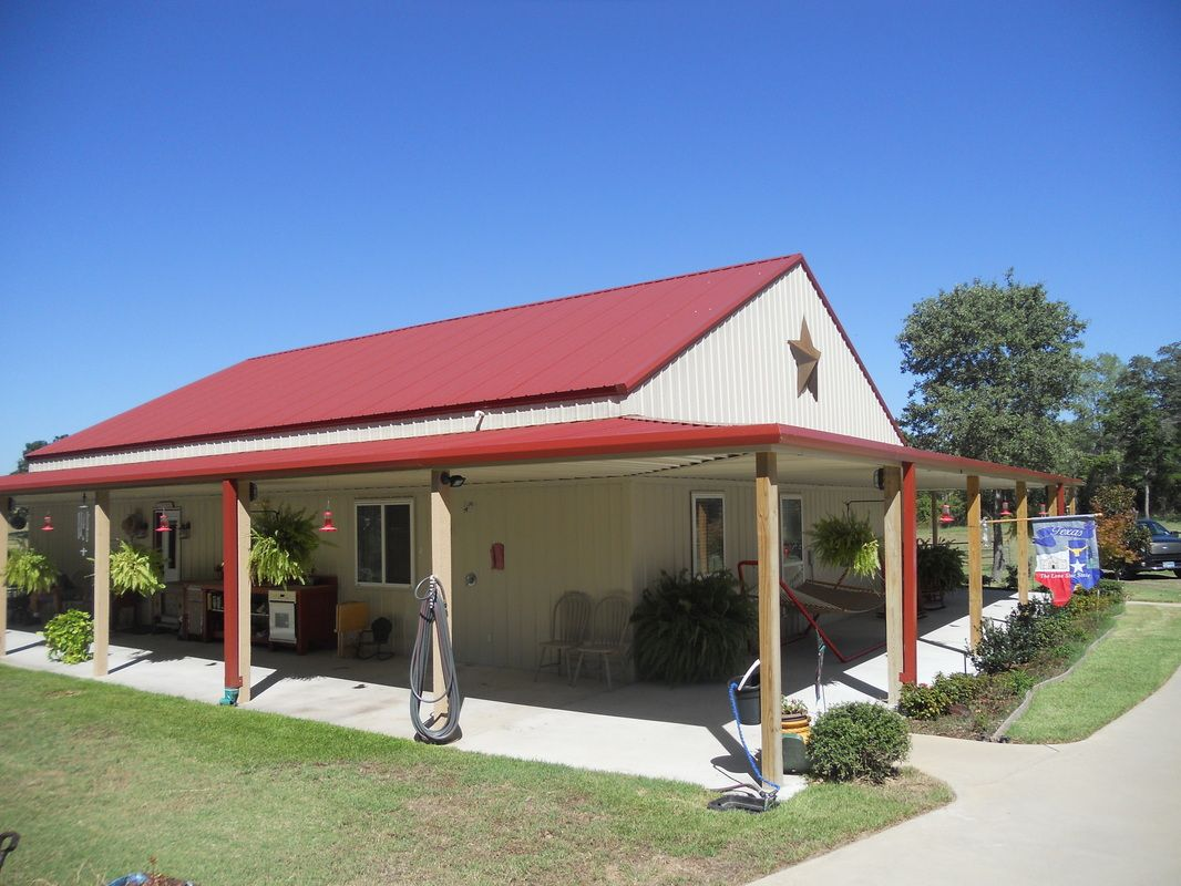 Davids 42 x 60 Metal Building Home w Side Porches HQ Pictures