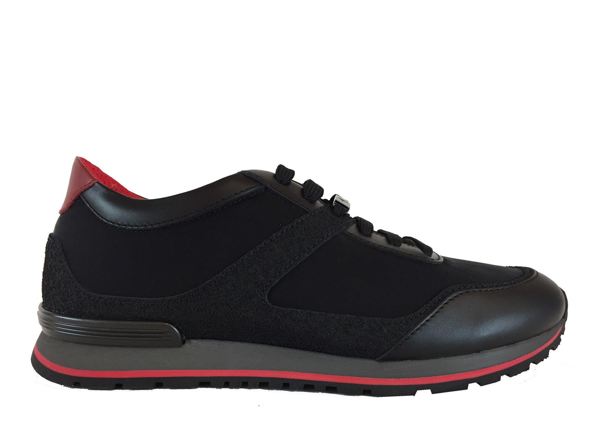 Sneakers Tod s - Todrun Ferrari en cuir, nubuck et toile noir ... 2f0fbfff73b8