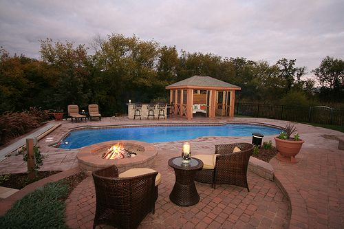Inground Pool Ideas For Backyard | In Ground Fiberglass Pool