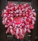 Deco Mesh Valentine's Day Wreath