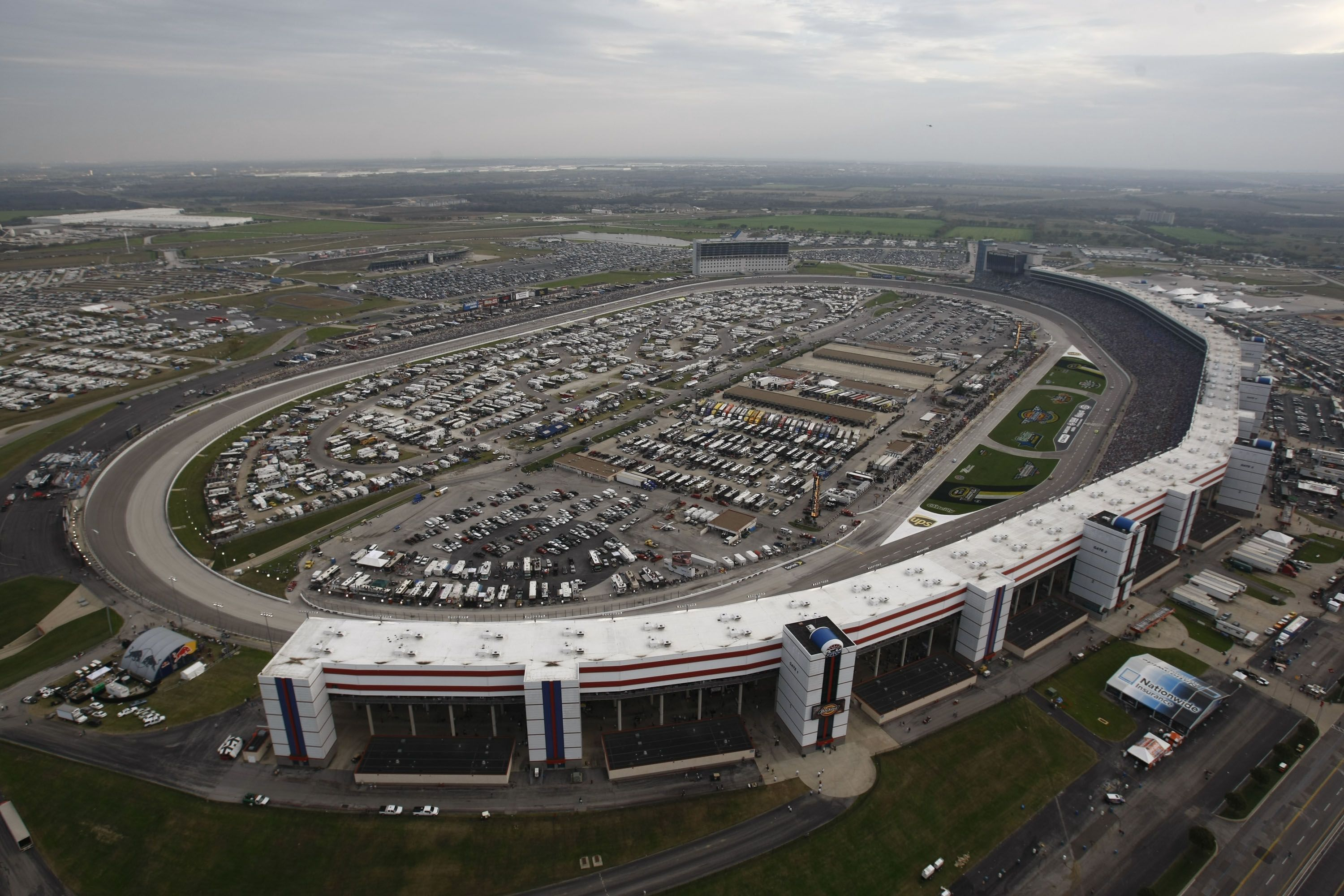 Aerial View of TEXAS MOTOR SPEEDWAY The most massive stadium I ve ever seen Seating over is one of the largest stadiums in the country