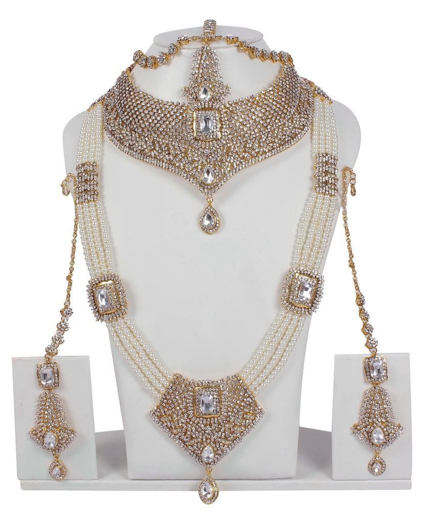 95088cac6e 5112 Indian Bollywood Style Fashion Gold Plated Bridal Jewelry Necklace Set  #MUCHMORE