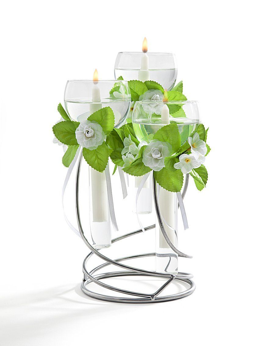 Silver light floating candle holder floating candles pinterest