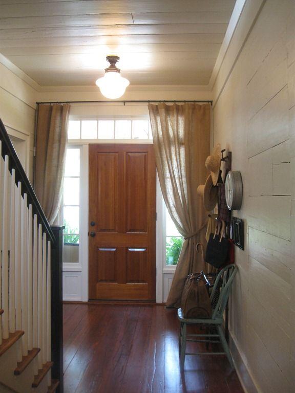 Delightful Front Door Drapes