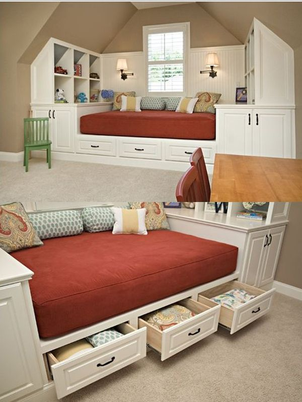 17 genius under bed storage ideas for tiny bedroom architecture in 2019 pinterest bed. Black Bedroom Furniture Sets. Home Design Ideas
