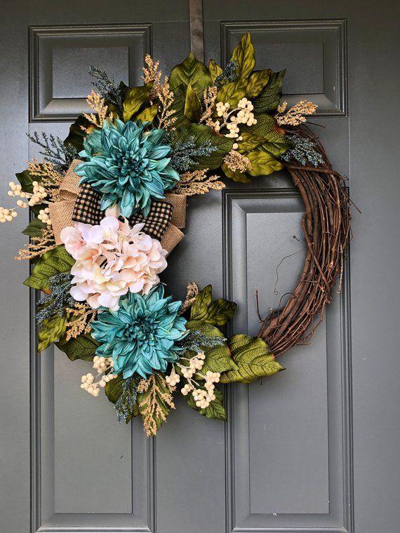 Photo of Spring wreaths for front door, wreaths for front door, summer wreaths for front door, everyday wreath, spring wreaths , wreaths