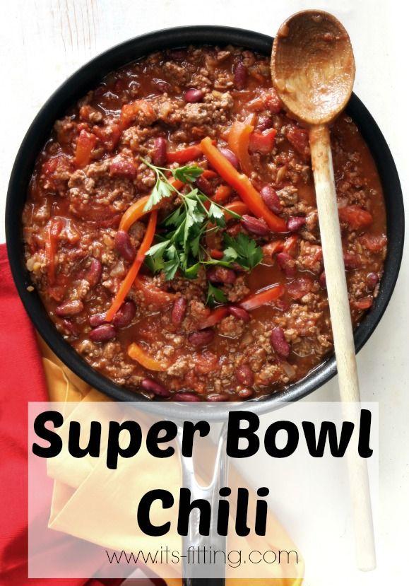 Meaty Super Bowl Chili Its Fitting Recipes Food Super Bowl Food
