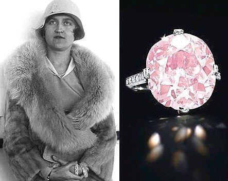 The rare, 9-carat pink diamond, formerly owned by reclusive copper heiress Huguette Clark