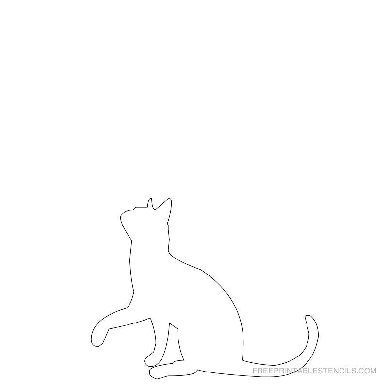 Free Cat Patterns | ... links below the cat images and print the cat stencil in the new window
