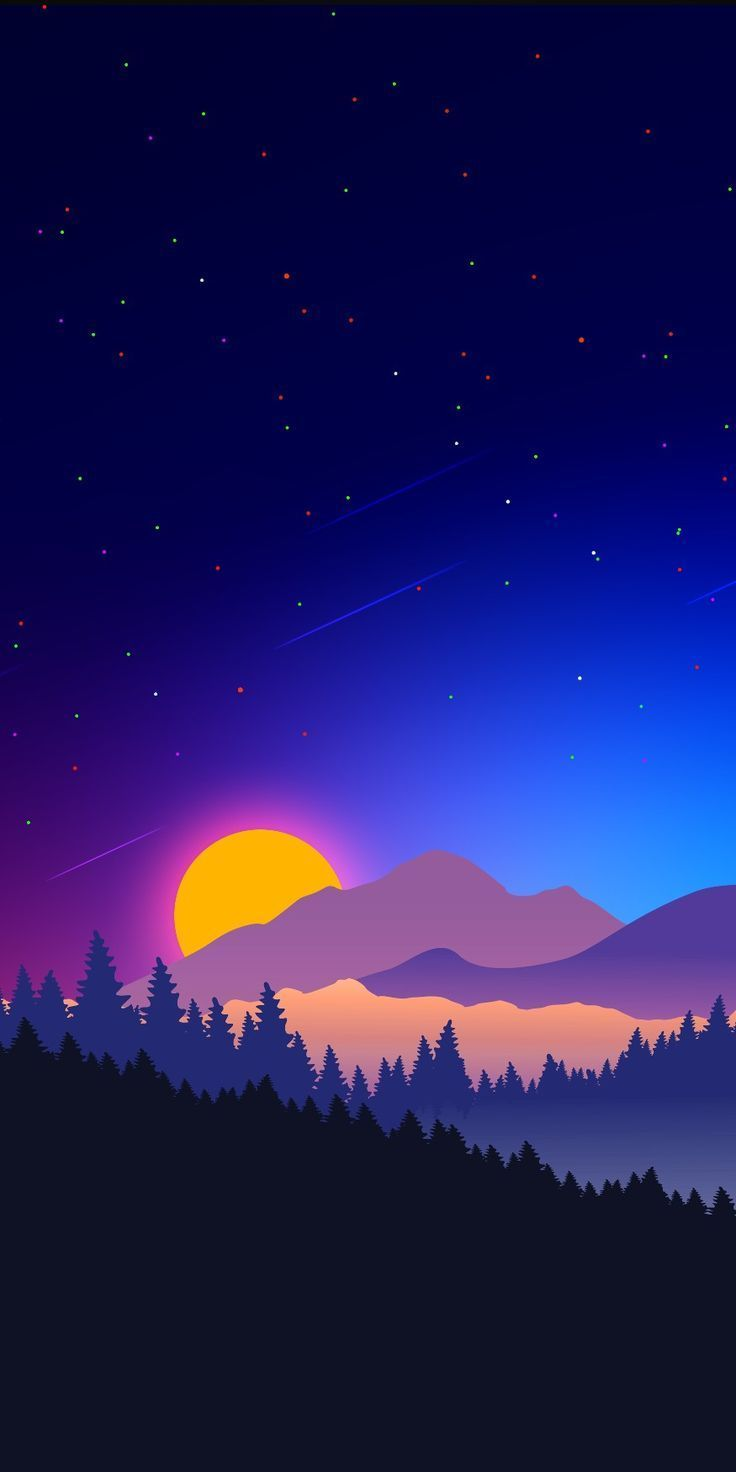 Telefon Hintergrund Di 2020 Ilustrasi Alam Pemandangan Latar Belakang