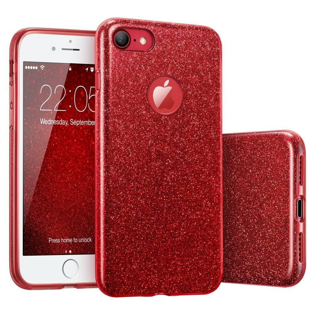 3 IN 1 Gradient Cover for iPhone 6 6S Plus Case Glitter Clear PC ...