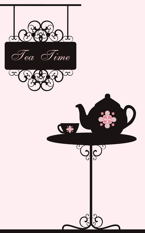 Vector Of Vintage Cafe Menu Background Art 04 Vintage Tea Rooms Tea Art Vintage Cafe