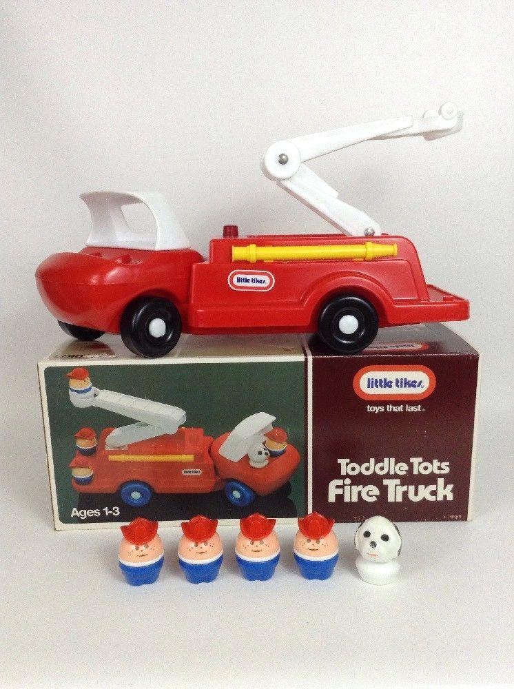 Vintage 1986 Little Tikes Toddle Tots Fire Truck 0671 ...
