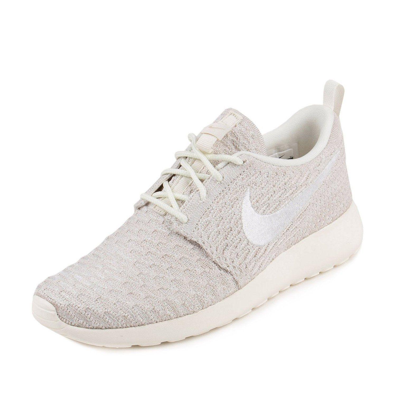 Femmes Nike Wmns Roshe Une Voile Flyknit  / Magasins De Tissu Blanc Cordes
