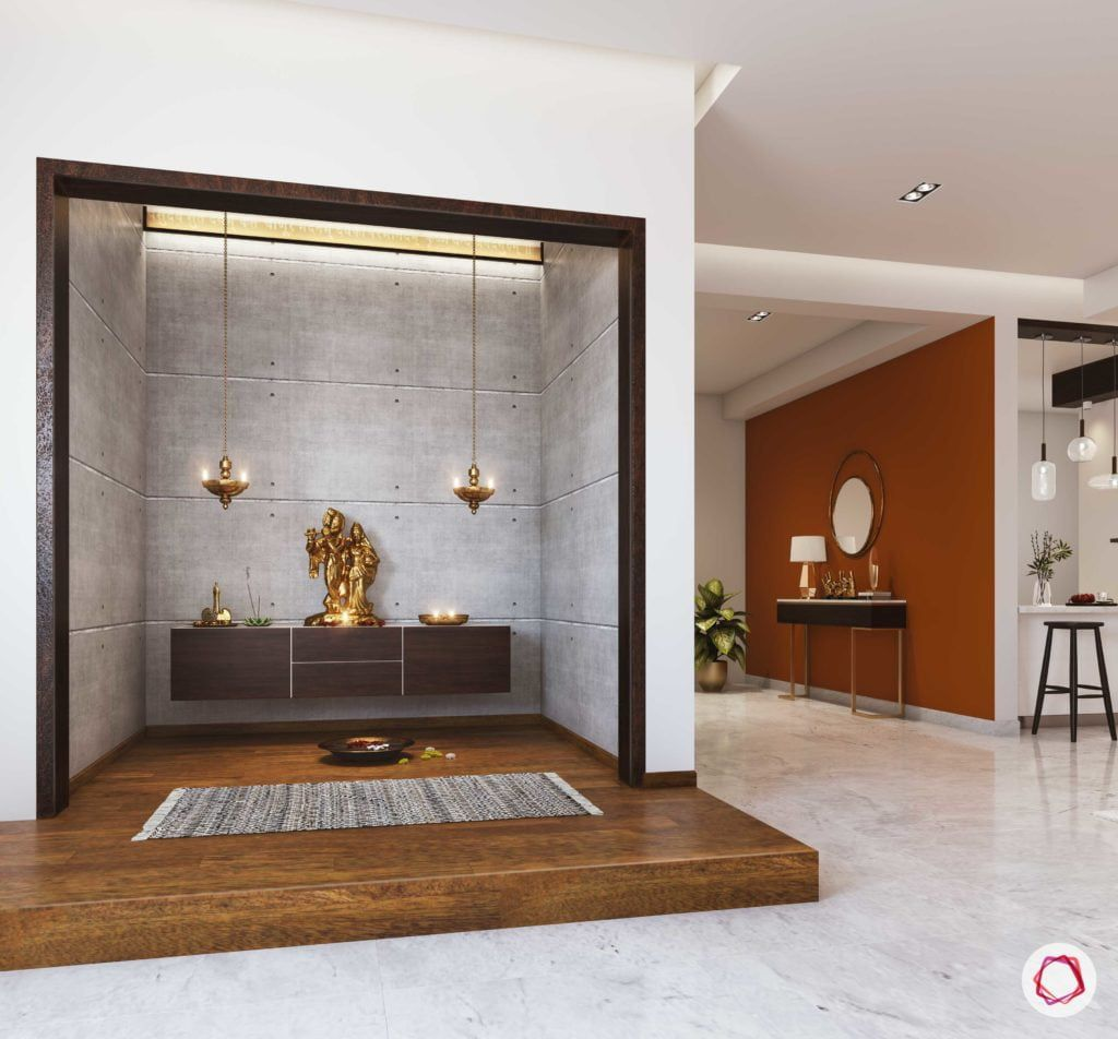 6 Simple Pooja Mandir Designs for Walls in Common Areas at ...