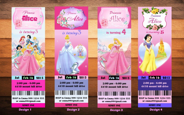 Disney Princess Birthday Party Invitation