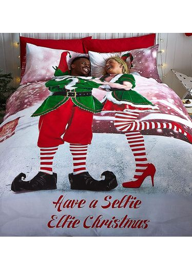 selfie elfie double bedding novelty christmas bedding from rooms