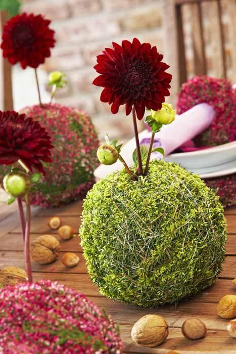 vase aus heidezweigen diy dekoration selbstgemacht diy himmlisches heidekraut dekoration. Black Bedroom Furniture Sets. Home Design Ideas
