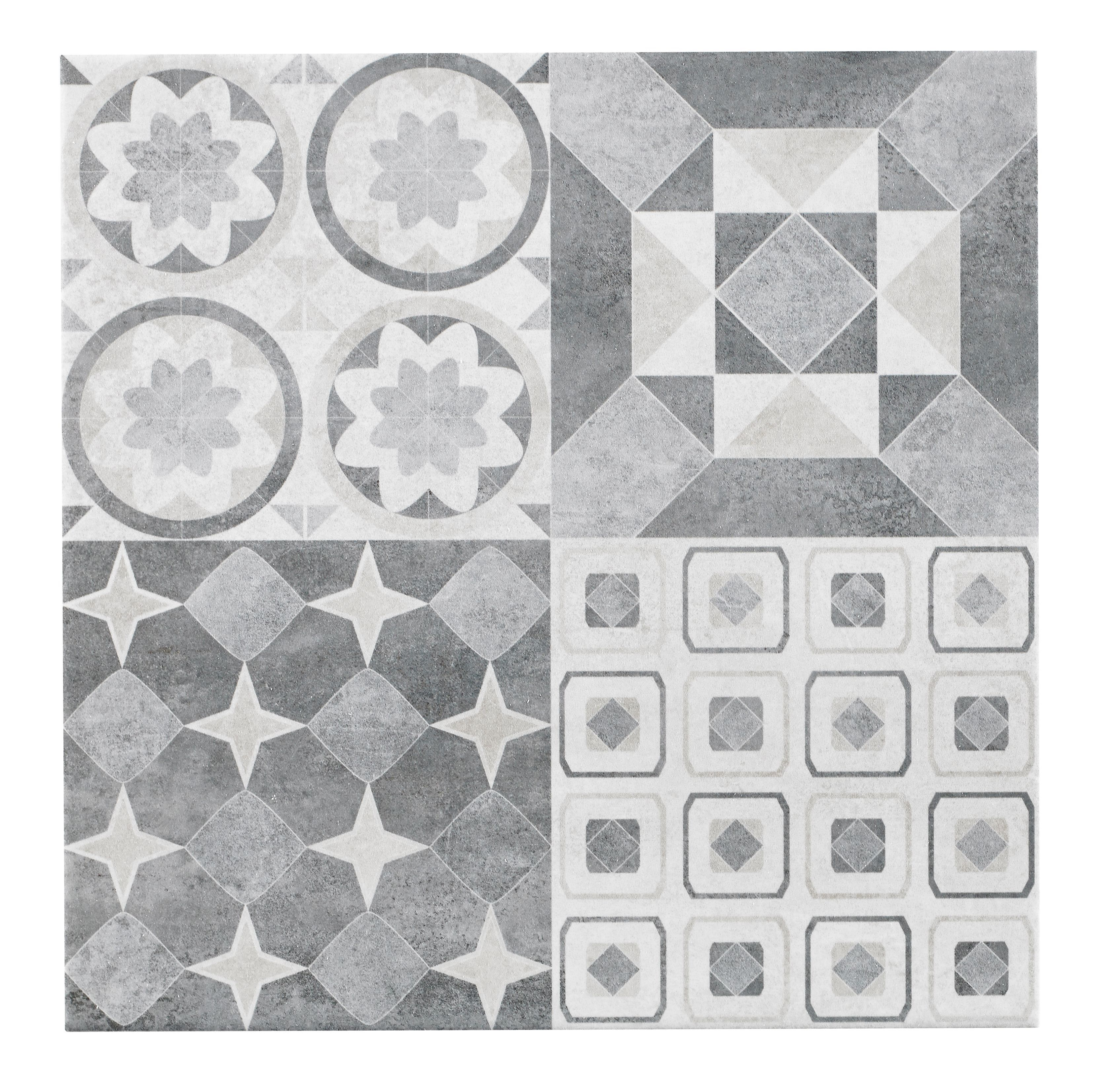 Lofthouse Grey Stone Effect Patchwork Ceramic Wall & Floor Tile ...