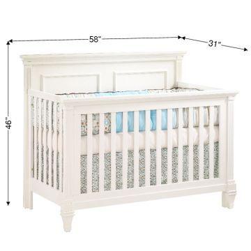 Natart Belmont 5 In 1 Convertible Crib Dimensions Cribs
