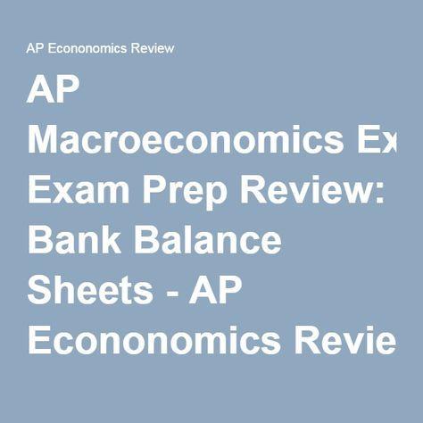 Ap Macroeconomics Exam Prep Review Bank Balance Sheets  Ap