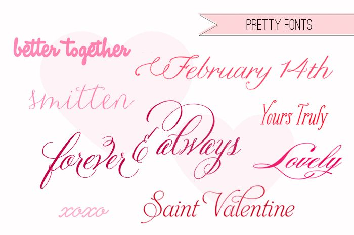 Valentines Pick Pretty Fonts Fonts and graphics Tattoo fonts