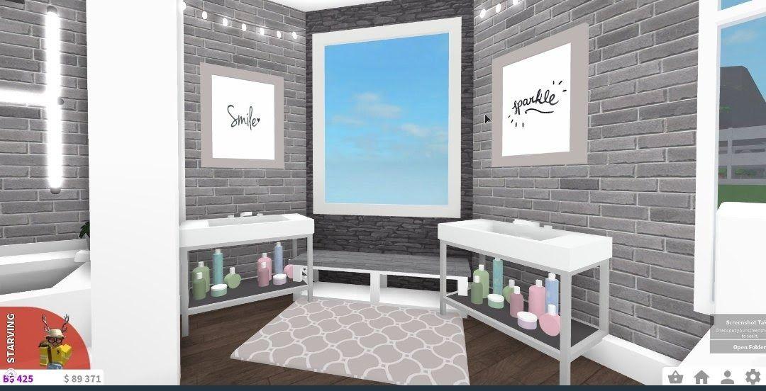 Bathroom Ideas Bloxburg (2020) | Aesthetic bedroom ...