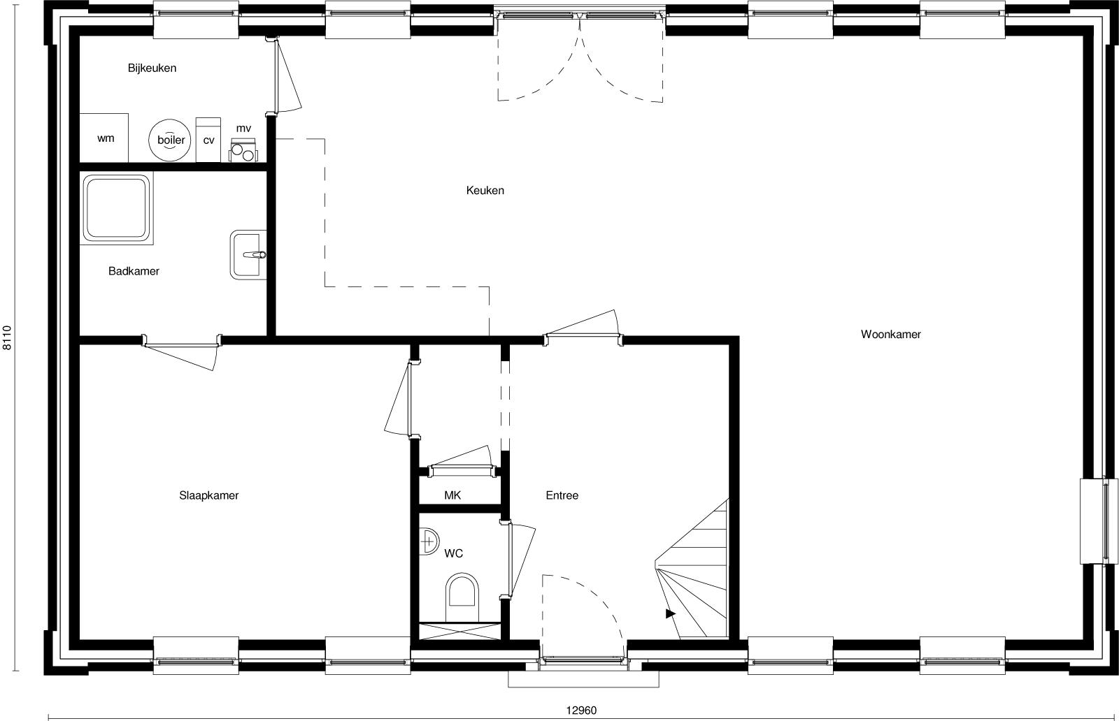 Plattegrond badkamer maken cheap en vastgoed vision with for Tekening badkamer maken