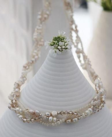 Photo of Braided Pearl And Crystal Necklace