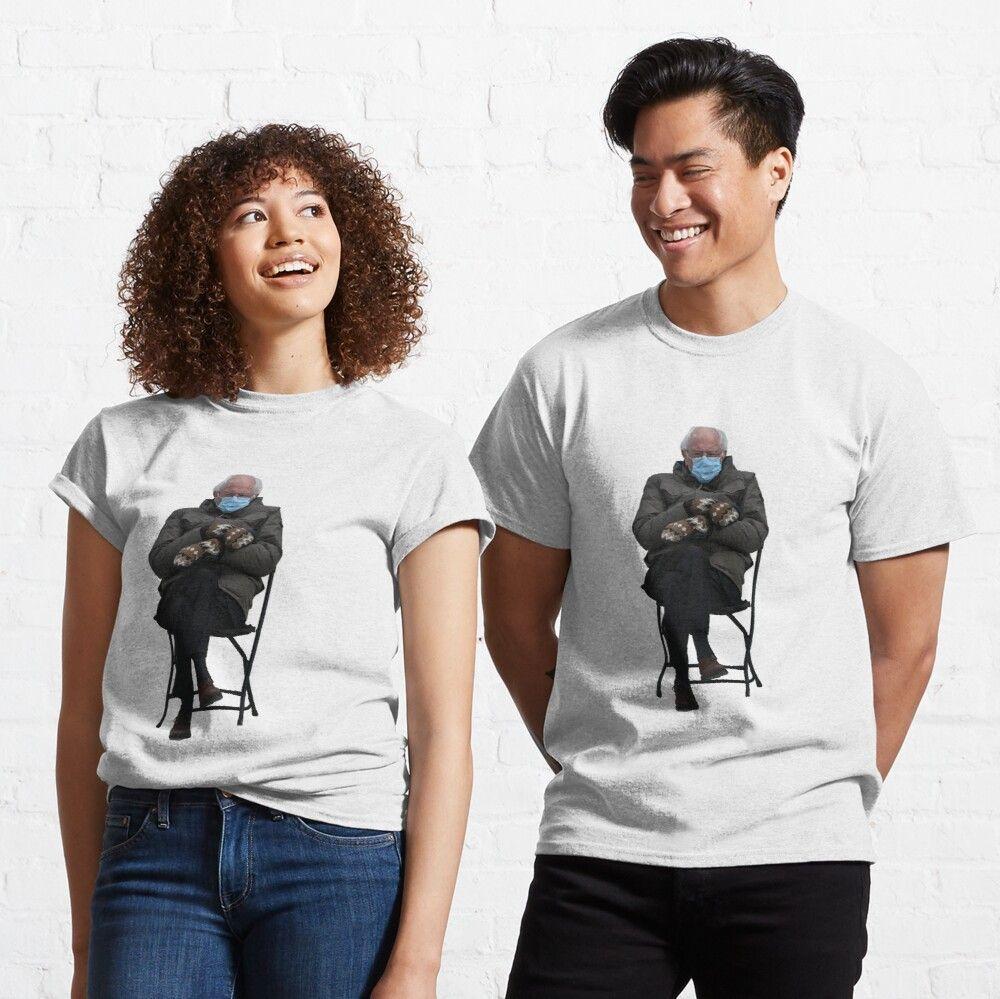 Bernie Sanders Inauguration Meme Classic T Shirt By Valentinahramov In 2021 Classic T Shirts T Shirts For Women Shirts
